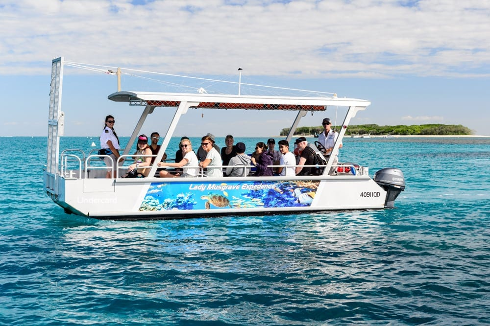Full Day Tour Lady Musgrave Experience - ECO Friendly Reef Tours - Glass Bottom Boat