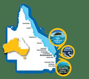 Scuba Diving Queensland Map